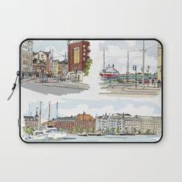 Street sketches Helsinki Laptop Sleeve