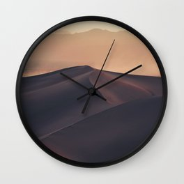 Poetic Sand Mountains Desert (Color) Wall Clock