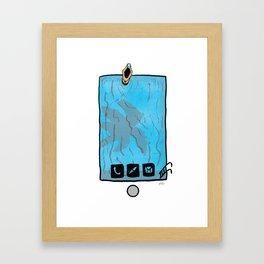 Phone in the Pool Framed Art Print