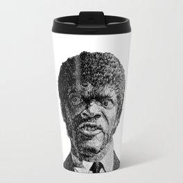 Jules Winnfield Portrait  Samuel L Jackson Pulp Fiction Travel Mug