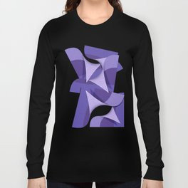 Ultra Violet Abstract Waves Long Sleeve T-shirt