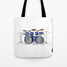 Blue Drum Kit Tote Bag
