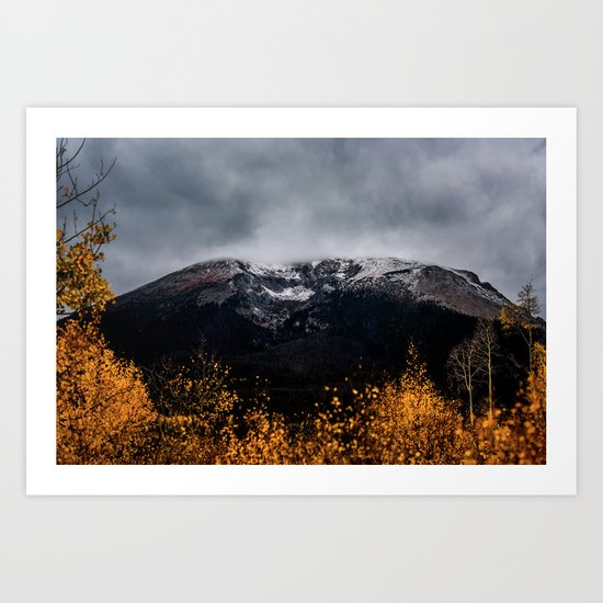 Yellow Tree Moutain Art Print