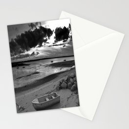 Black and White Sunset Stationery Cards