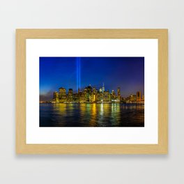 Tribute in Light. New York City Framed Art Print