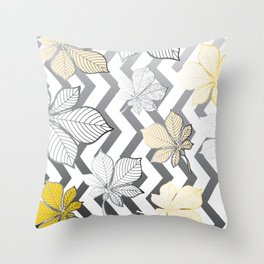 Stylized leaves 2 Throw Pillow