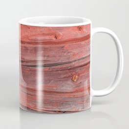Weathered  colorful timber texture close front view Coffee Mug