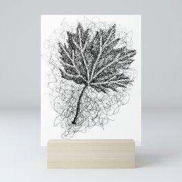 Scribble Leaf Mini Art Print