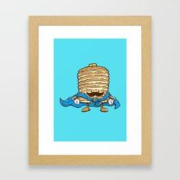 Captain Pancake's Mustache Framed Art Print