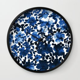 Sophia Floral Blue Wall Clock