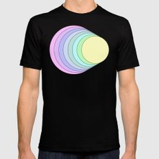 rainbow pastel MEDIUM Mens Fitted Tee Black