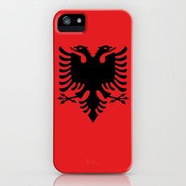 Albanian Flag - Hight Quality image iPhone Case