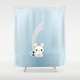 Kawaii Bunny Shower Curtain