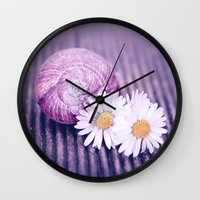daisies Wall Clocks featuring DAISIES by INA FineArt