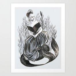 lily collin mermaid Art Print