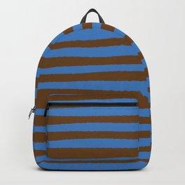 Brown & Blue Stripes  Backpack