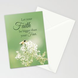 """""""Let your Faith…"""" Quote Flowers Stationery Cards"""