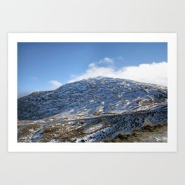 The Drive to Cardrona Ski Fields from Queenstown, New Zealand Art Print