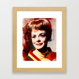 June Lockhart, Vintage Actress Framed Art Print