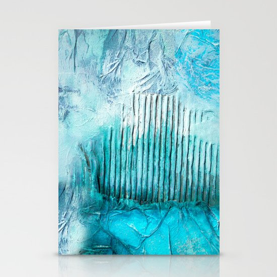 ABSTRACT AQUA COLOURS Stationery Cards