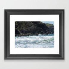 White Surf Framed Art Print