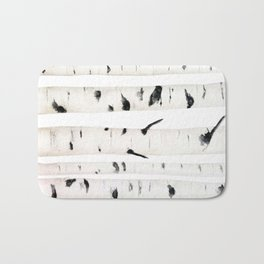 birch  watercolor Bath Mat