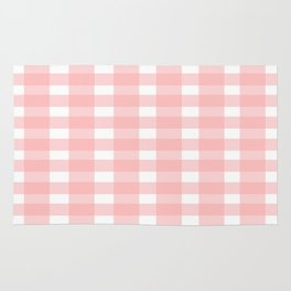 Pink Gingham Design Rug