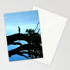 WATCHING-Bird reflection Stationery Cards