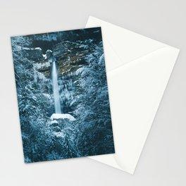 Magical waterfall Peričnik in Mojstrana, Slovenia Stationery Cards