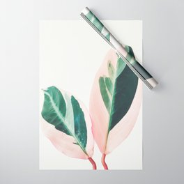 Pink Leaves I Wrapping Paper
