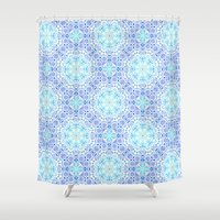 paper towns Shower Curtains featuring Paper by Truly Juel