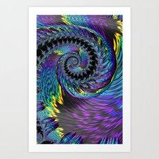 Purple Twist Art Print