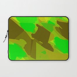 green and brown painting abstract background Laptop Sleeve