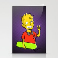 simpson Stationery Cards featuring Bart Simpson by Bouman