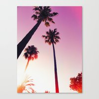 palm tree Canvas Prints featuring Palm tree by Emma.B