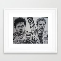 shaun of the dead Framed Art Prints featuring SHAUN OF THE DEAD by waynemaguire777