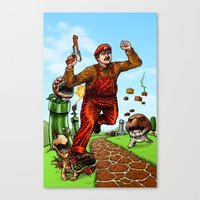 mario Canvas Prints featuring Mario by Ramon Villalobos