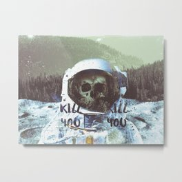 Dead Astronaut Space Metal Print