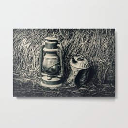 Vintage Lantern and Gas Can 3 Metal Print