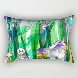 Jungle Green Rectangular Pillow