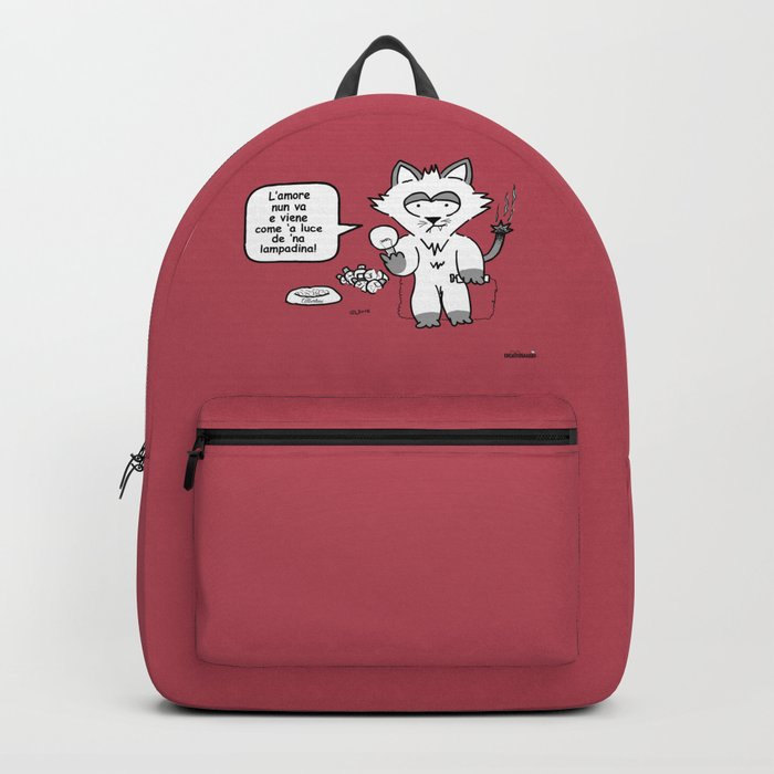 the wise cat - love Backpack