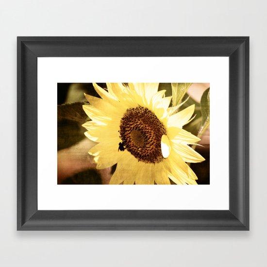 Simple Sunflower Framed Art Print