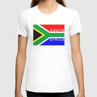 south africa T-shirts featuring South Africa country flag name text by tony tudor