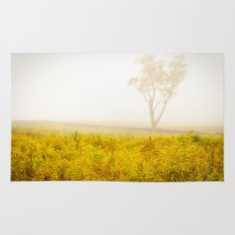 Dreams of Goldenrod and Fog Rug