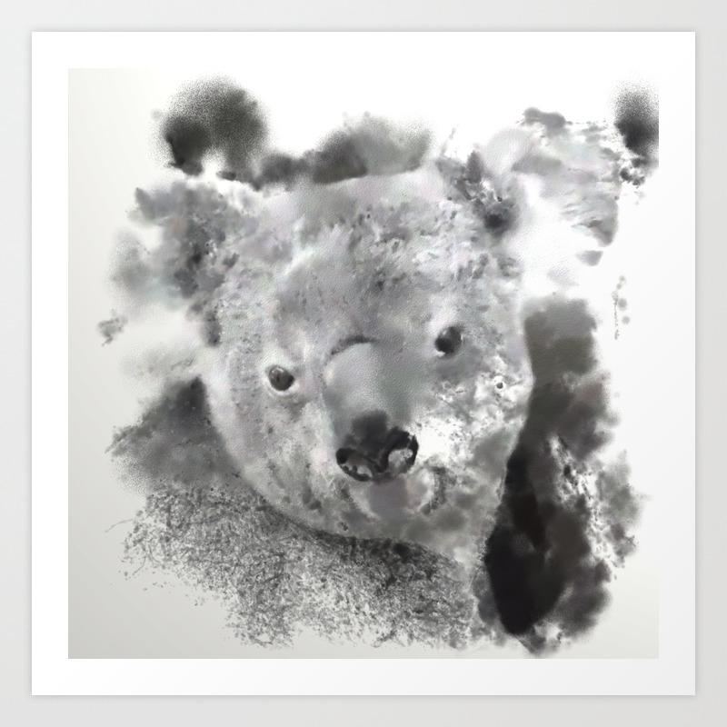 Animals And Art Koala Bear Art Print By Jamcolorsspecial Society6