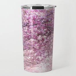 Sakura tree street Travel Mug