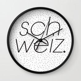 Schweiz  Wall Clock