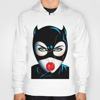 catwoman Hoodies featuring Catwoman by mark ashkenazi
