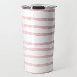 Simply Drawn Stripes Rose Quartz Elegance Travel Mug