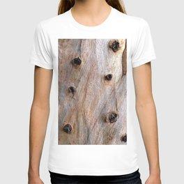Eucalyptus Tree Bark and Wood Texture 14 T-shirt
